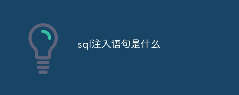 sql注入语句是什么