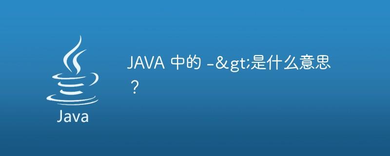 JAVA中的->是什么意思?