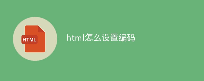 html怎么设置编码