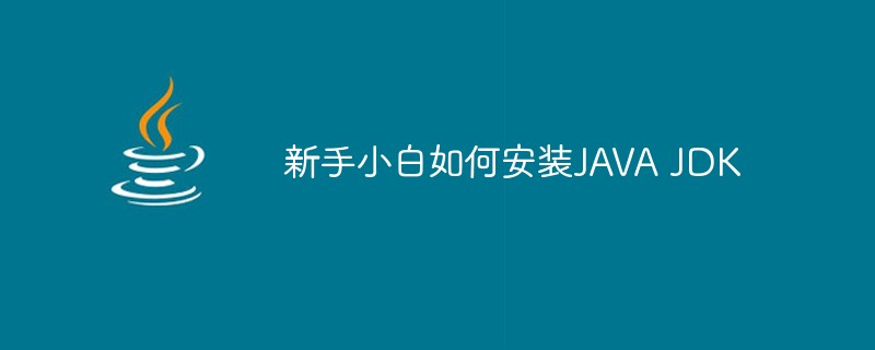 新手小白如何安装JAVA JDK
