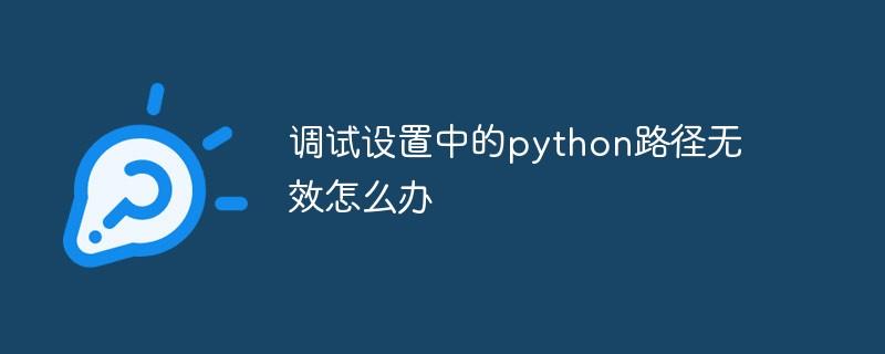 调试设置中的python路径无效怎么办