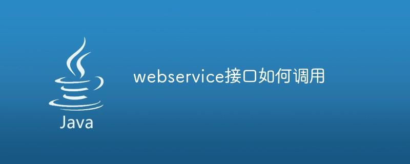webservice接口如何调用