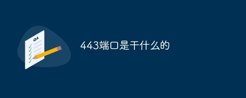 443端口是干什么的