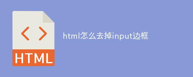 html怎么去掉input边框