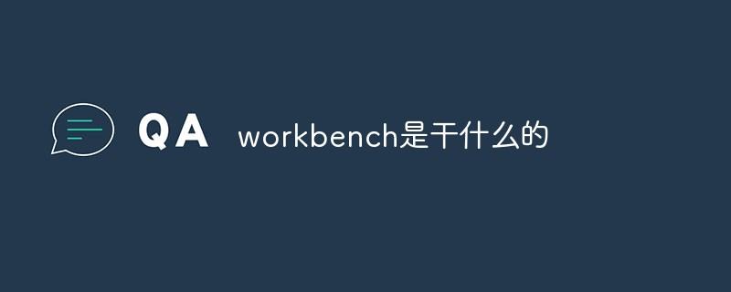 workbench是干什么的