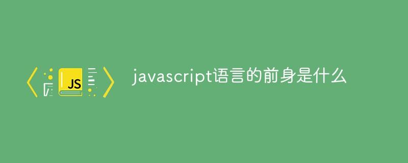 javascript语言的前身是什么