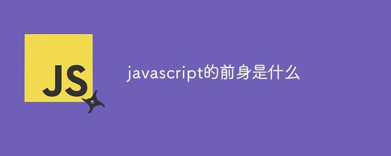 javascript的前身是什么