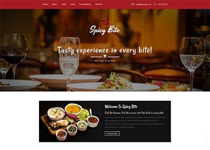 外卖快餐餐饮店响应式网页模板
