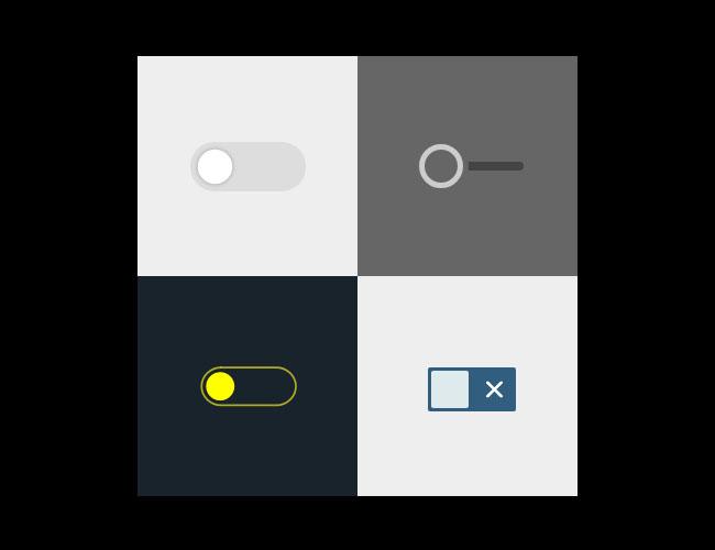 纯CSS3复选框开关按钮切换特效