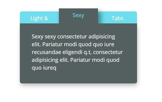 jQuery+CSS3 3D立体阴影效果选项卡切换插件