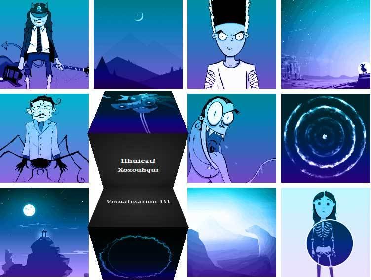 html5 svg方向感知图片三维立方体动画