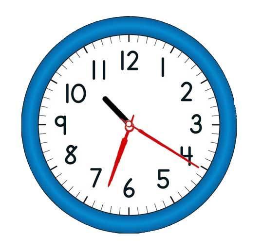 蓝色的圆形时钟代码