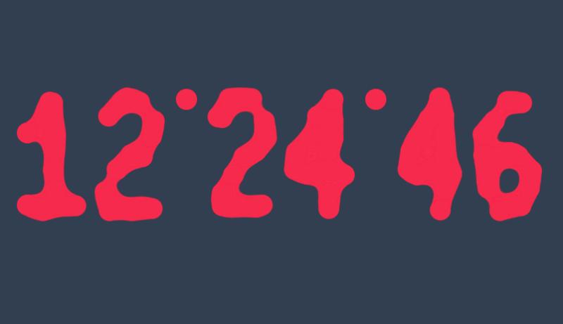 html5 svg粘稠状时钟