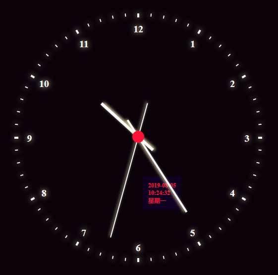 圆形虚线时钟ui特效