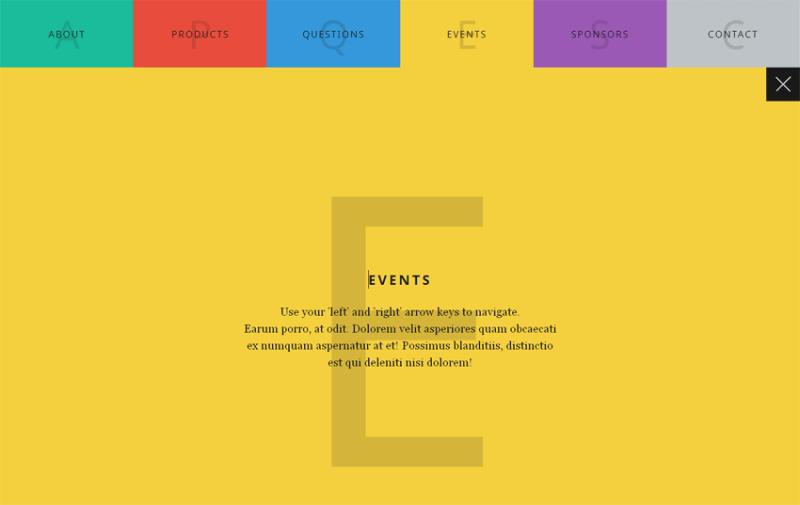 html5全屏响应式tab滑动选项卡切换特效