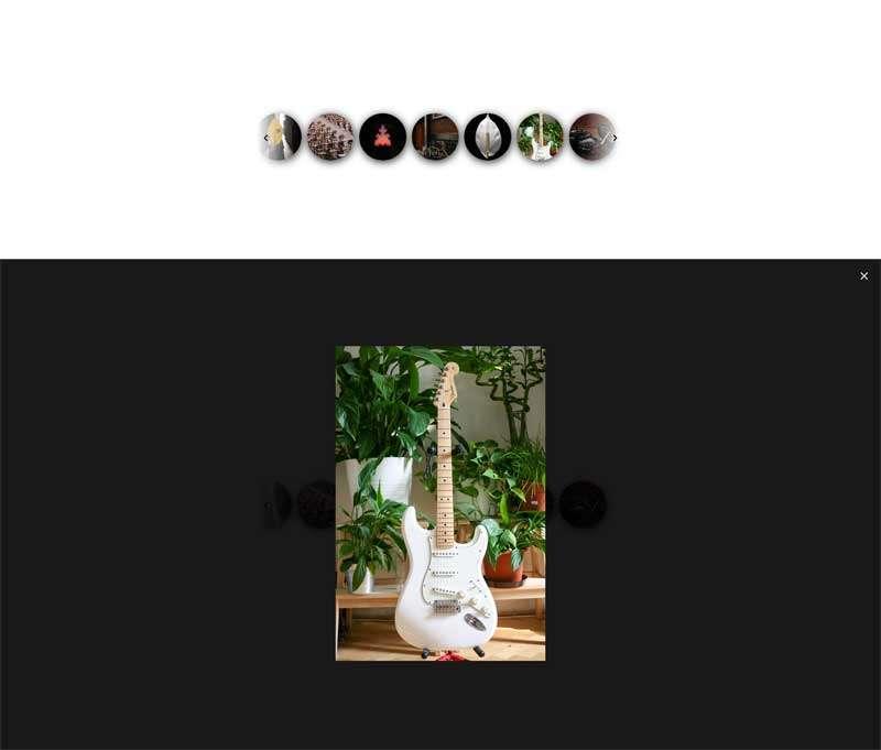 jQuery单排图片点击遮罩大图预览代码