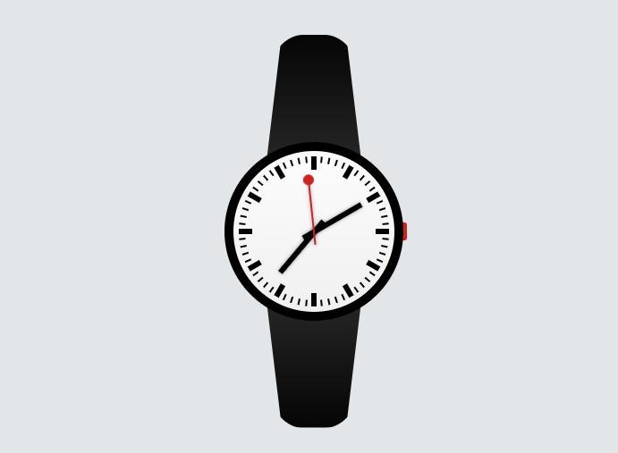纯css瑞士手表时钟效果