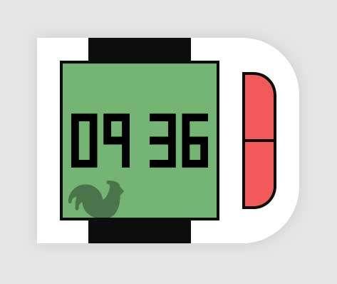 简易的快捷智能手表ui特效