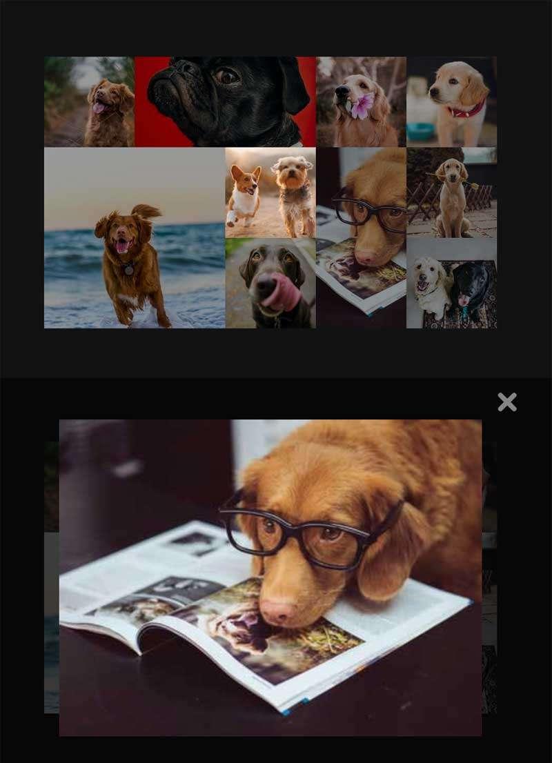 相册图片网格ui布局特效
