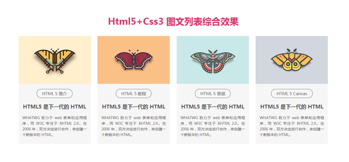 常用的CSS图文列表样式代码