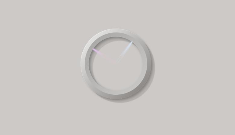 创意的圆环时钟ui特效