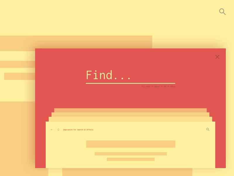 html5酷炫的ui搜索框动画代码