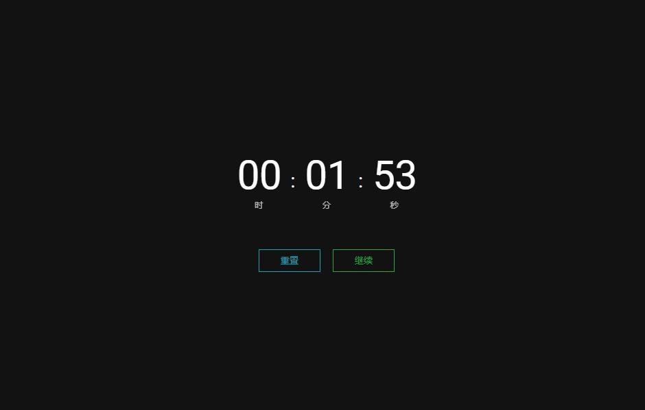 纯CSS计时器