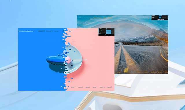 WebGL全屏图像转换动画特效