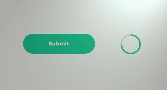 modernizr html5表单提交按钮圆形进度条加载动画表单验证效果