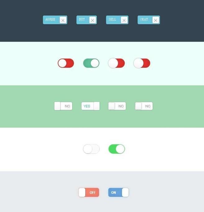CSS3自定义美化复选框Checkbox按钮样式代码