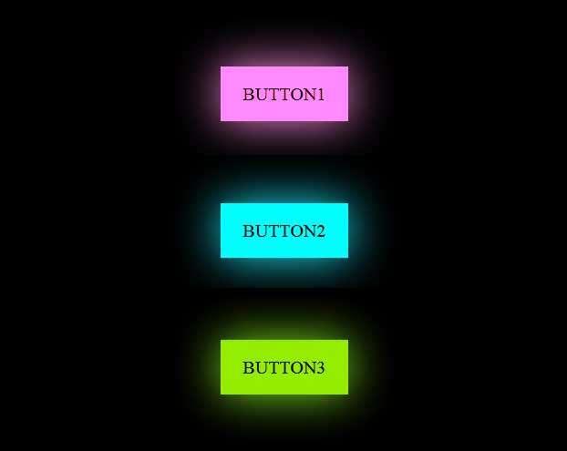 css3发光按钮线框特效