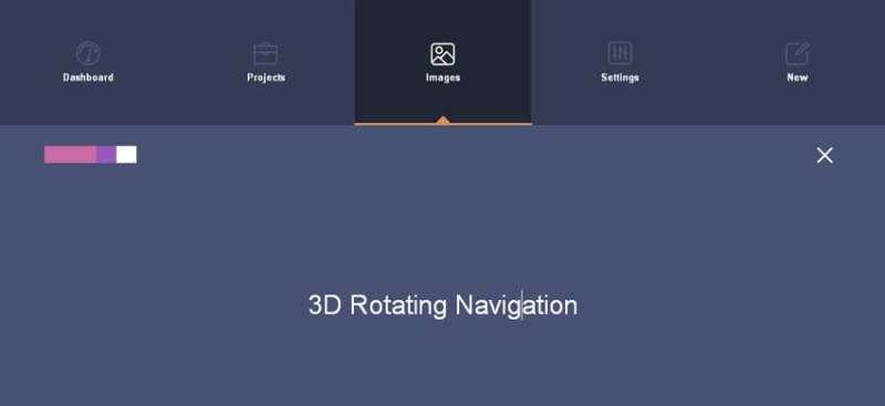 jQuery html5响应式顶部导航3D翻转特效