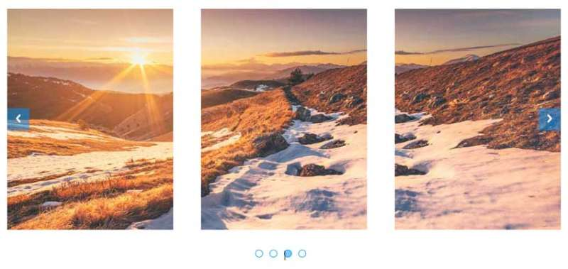 jquery html5三屏图片排列滑动切换代码