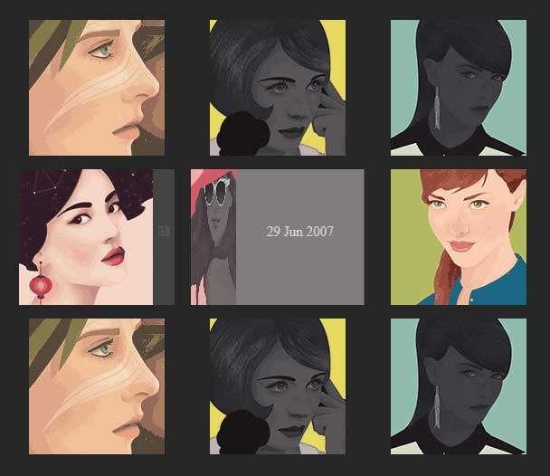 css3感知方向图片翻转动画特效