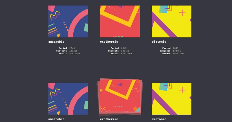 html5鼠标悬停叠加图片弹性动画特效