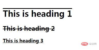 css怎么添加下划线? - html中文网