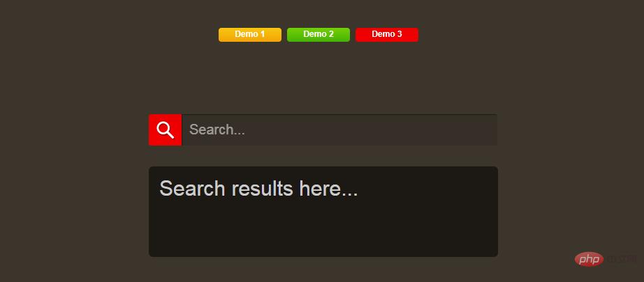 三种jQuery可伸缩搜索框