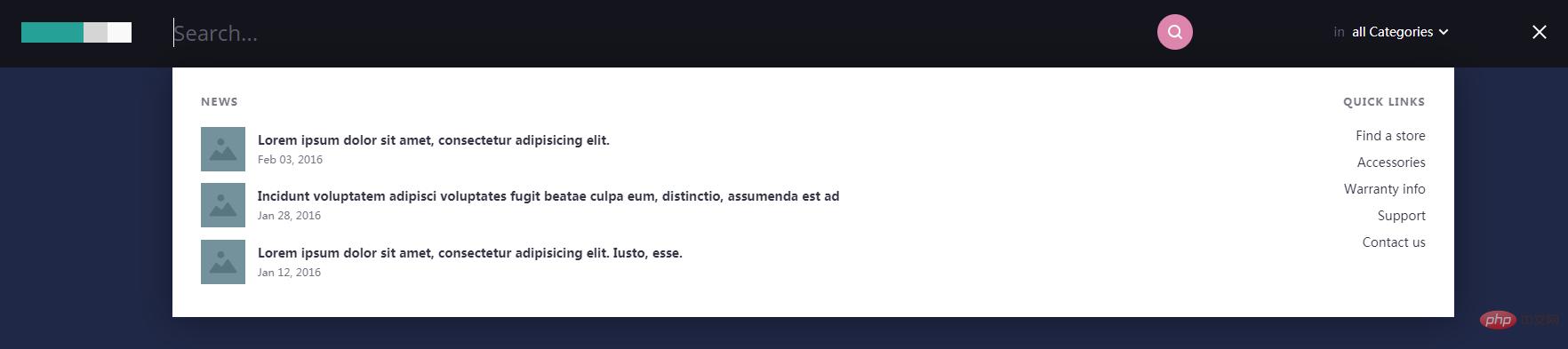 炫酷高級搜索框設計效果