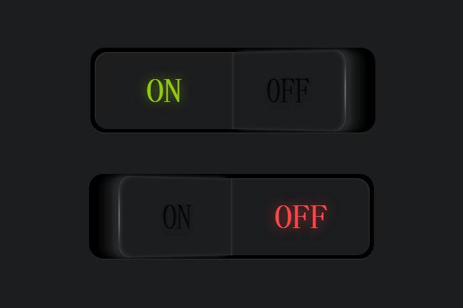 纯CSS3实现发光按钮开关切换特效