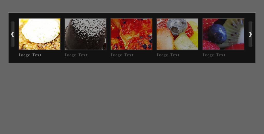 jQuery自动滚动五屏图片通栏代码