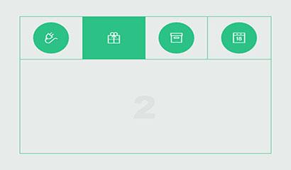HTML5 Tab选项卡动画切换特效