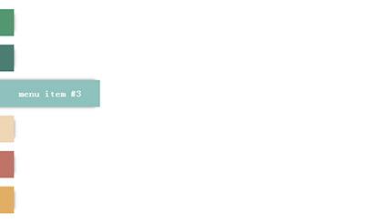 CSS3侧边栏卡片式菜单导航