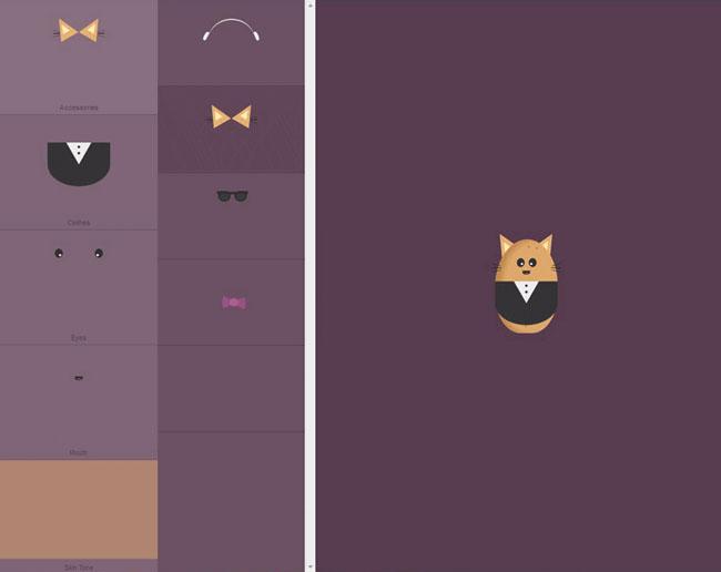 jQuery的CSS3 +卡通土豆表情DIY装扮特效