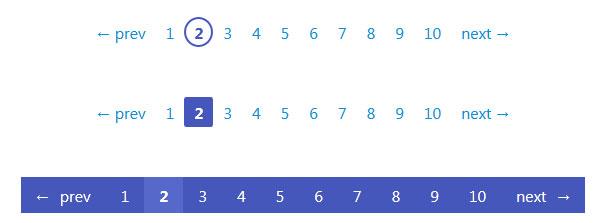 6款简洁漂亮的CSS3分页样式代码
