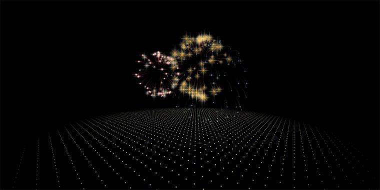 HTML5+Canvas漂亮的3D烟花动画特效