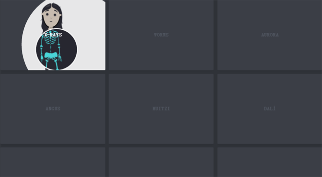 SVG图片剪辑路径鼠标悬停效果