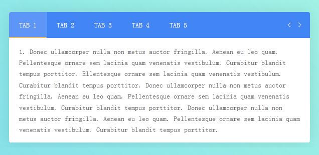 Material Design风格动画效果Tabs选项卡特效