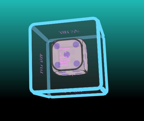 CSS3骰子3D立方體旋轉動畫