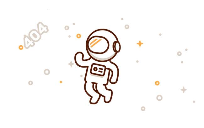 html5 svg太空人404动画模板