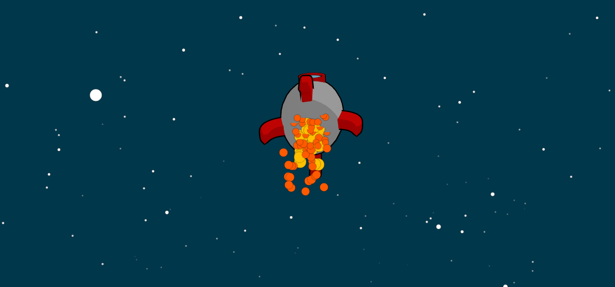 Canvas鼠标移动控制火箭飞行动画特效